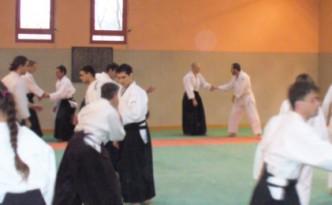 Entrainement au dojo d'aikido de saint symphorien d'ozon